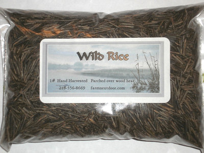 Package of wild rice from the Farm Next Door