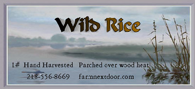 label for package of Wild Rice from the Farm Next Door